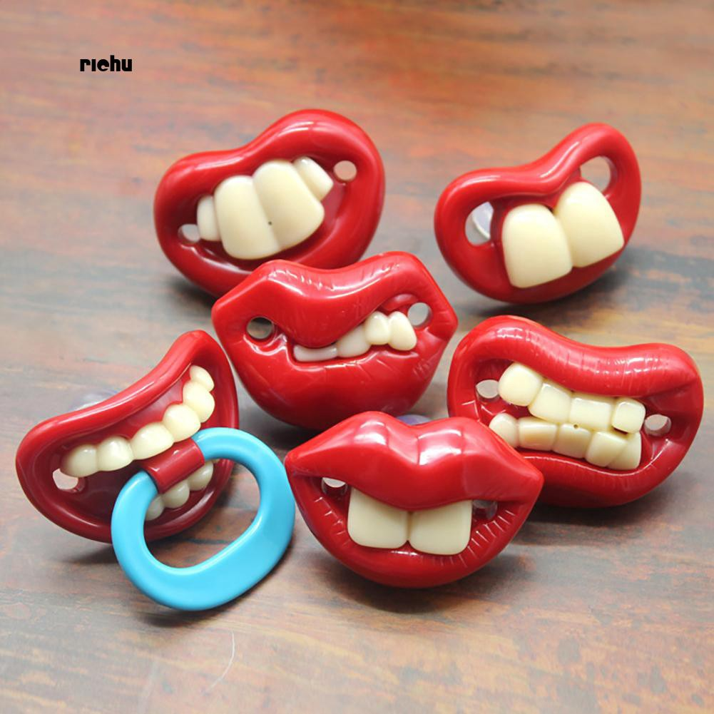 Creative 9 Styles Funny Teeth Mustache Baby Pacifier Orthodontic Dummy Nipples