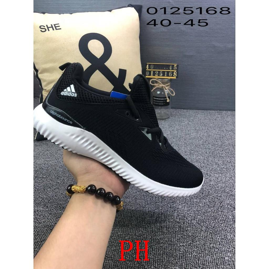 0a6e0fea7b3f4 ADIDAS ALPHABOUNCE BEYOND Adidas Breathable Running shoes Alpha small  coconut sneakers Grey black me