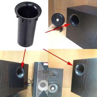 "2PCS Speaker Port Tube Bass Reflex Connector 3-5/"" 35x80mm Subwoofer Woofer Box"