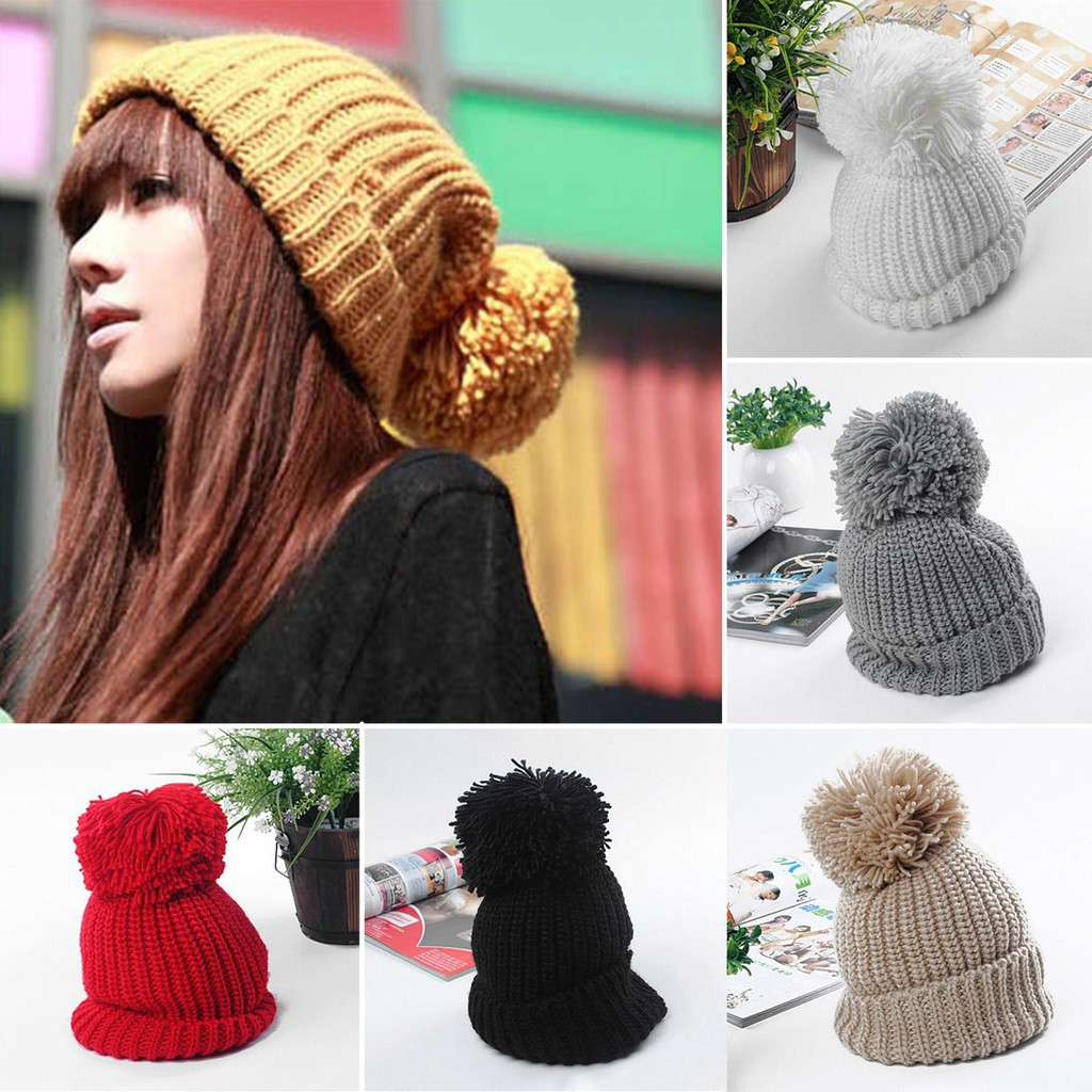 799903aa7 ✿WA✿Women Slouch Beanie Hat Knitted Winter Warm Ski Cap