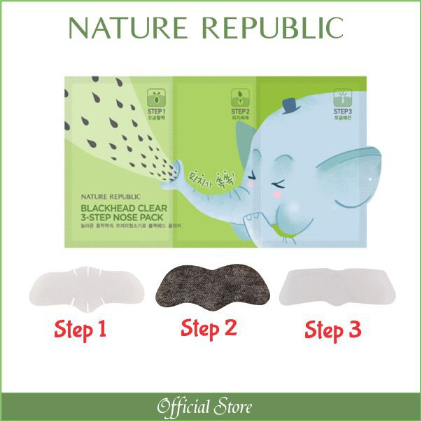 Nature Republic Blackhead Clear 3-Step Nose Pack