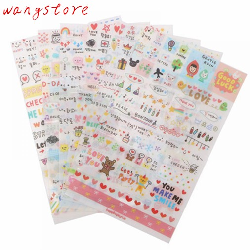 6pcs Lovely Dress Up Girl Pvc Stickers Diy Diary Scrapbook Notebook Album Cup Phone Decor Sticker Stationery School Supplies Vivid And Great In Style Memo Pads