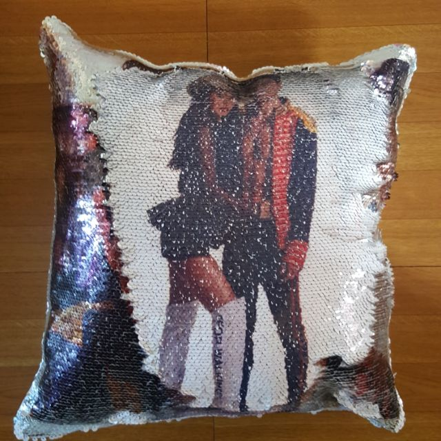 61323dbec6e PERSONALIZED SEQUINED MERMAID PILLOW
