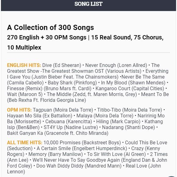 Song Transfer Pack 18 for GRAND VIDEOKE | Shopee Philippines