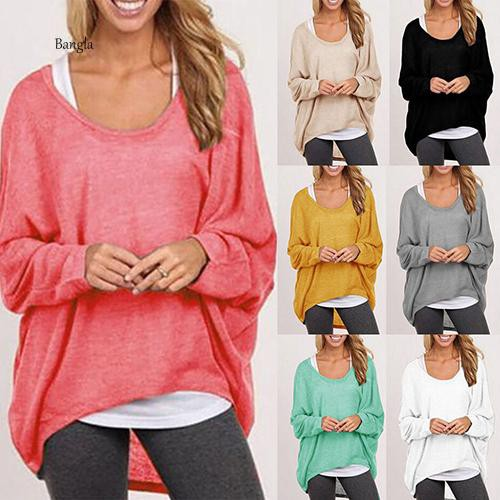 Womens Batwing Long Sleeve Knitted Sweater Ladies Baggy Jumper Casual Blouse Top