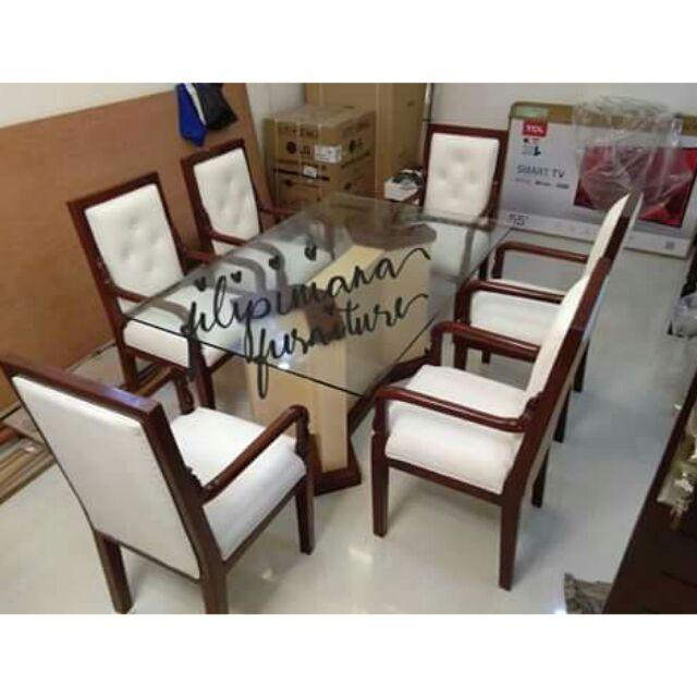 6 Seaters Modern Design Dining Set