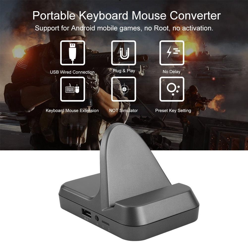 Portable Keyboard Mouse Converter Battle Dock for PUBG