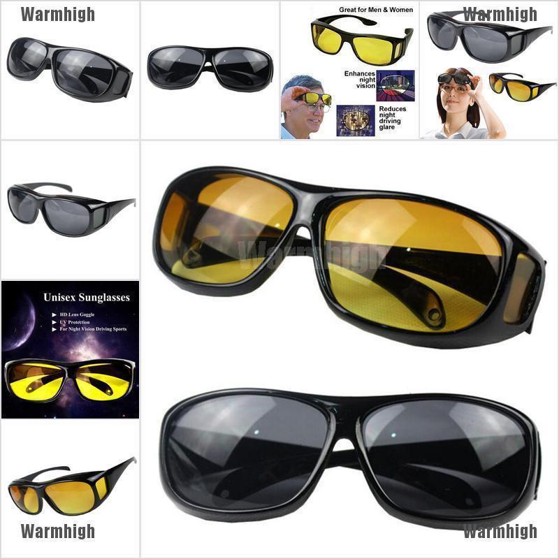 HD Night Vision Men//Women Driving Sunglasses Over Wrap Around Anti-UV Glasses 1x