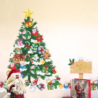 Christmas Wall Decals Removable.Christmas Wall Sticker Santa Claus Wall Decals Removable Wall Stickers Murals Diy Home Decorations