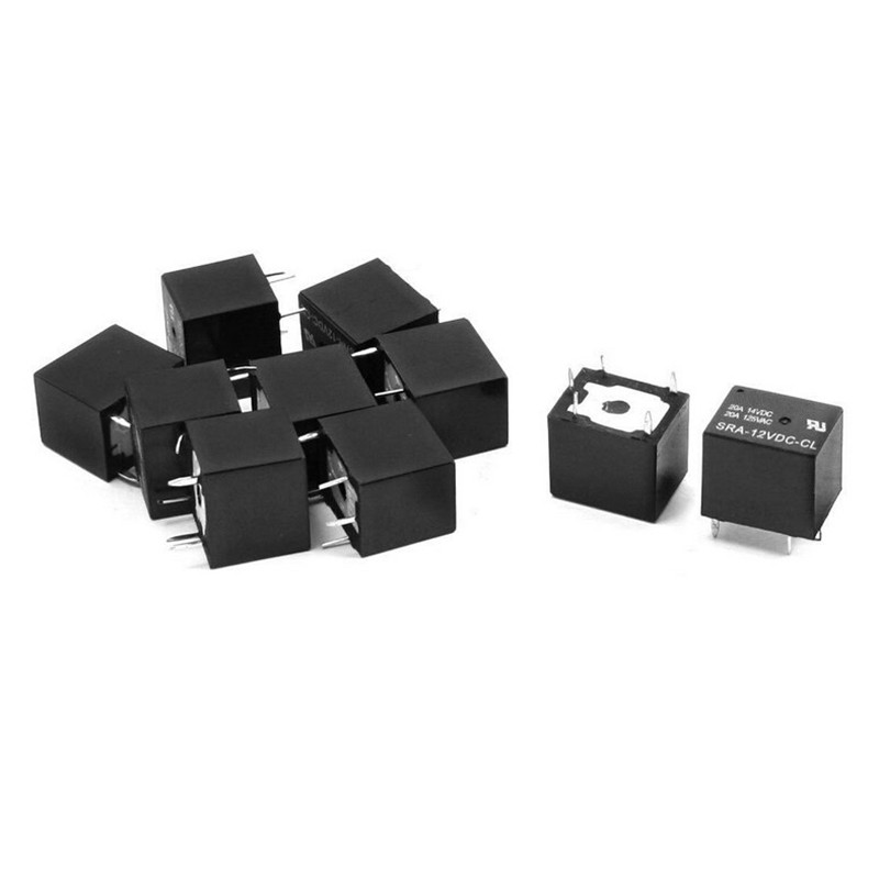5Pc Durable DC 12V Coil 10A 5 Pins Power Relay PCB Type SPDT For SRA-12VDC-CL Sl