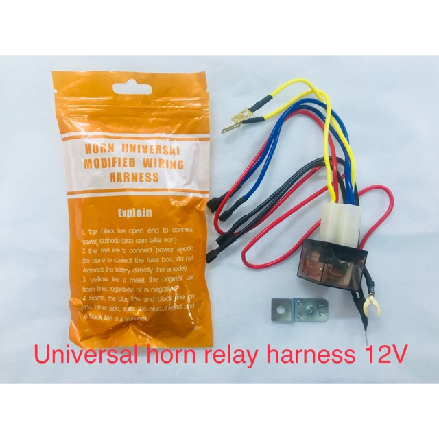 Stupendous Universal Horn Relay Socket Modified Harness 12V Shopee Philippines Wiring Cloud Staixuggs Outletorg
