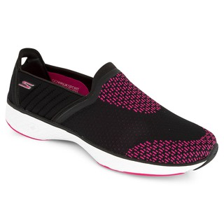 skechers shape ups pink and black