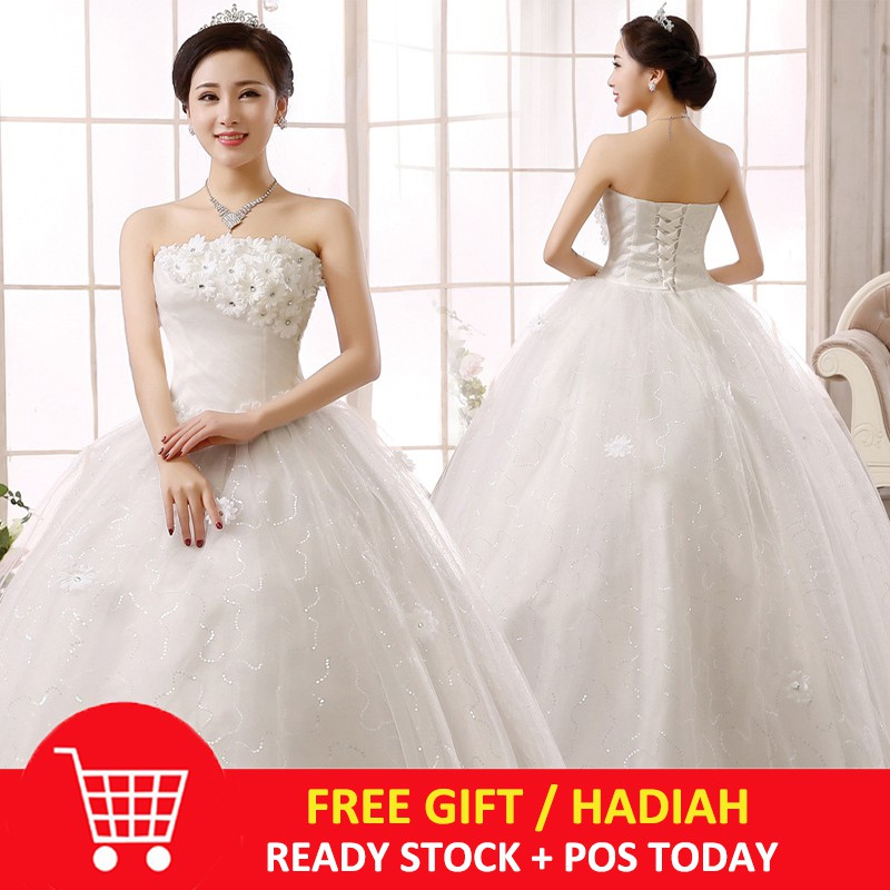 Wedding Dress High Quality Bride Simple Bridal Gown