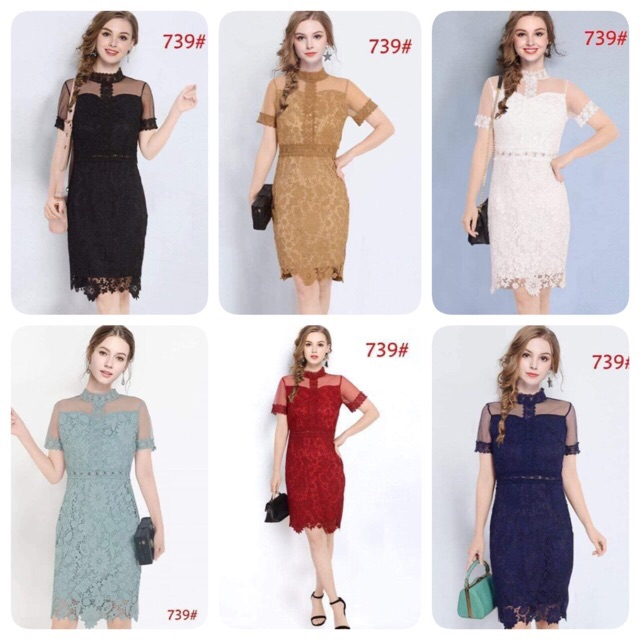 739 Woman Fashion Formal Dinner Party Dress Shopee Philippines