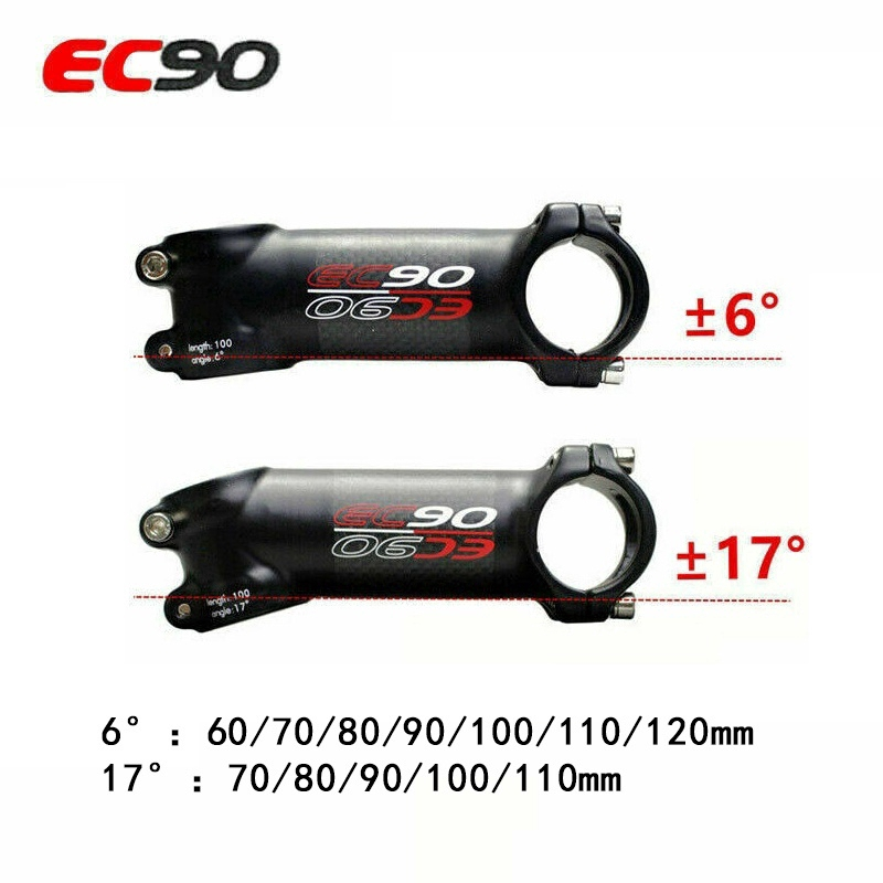 EC90 Aluminum Package Carbon Stems Stand Road//MTB Bike Stem Ultralight 3K Gloss