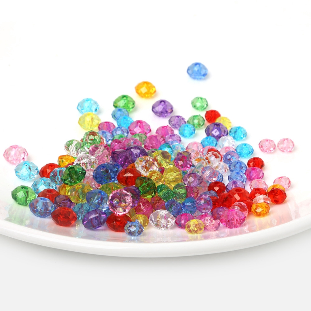 50pcs Mixed colors Crystal Glass Rondelle Faceted Loose Spacer Beads 8\10\12mm