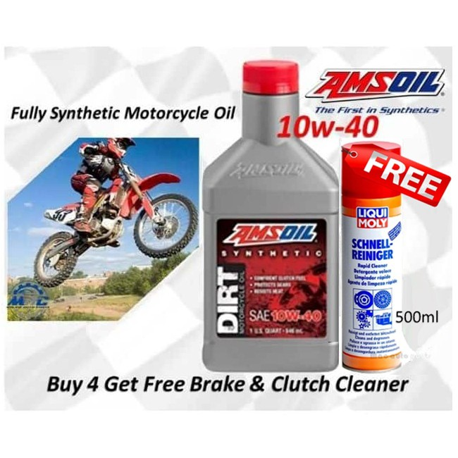 Amsoil 10w40 Synthetic Dirt Bike Engine Oil 1 Quart Motorcycle