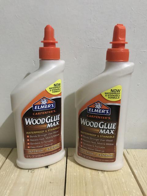 Elmer's Wood Glue Max Waterproof & Stainable 8 FL OZ