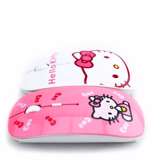 b2985243766 Ultra-thin Hello Kitty wireless mouse 2.4G cute KT cat cartoon spot |  Shopee Philippines