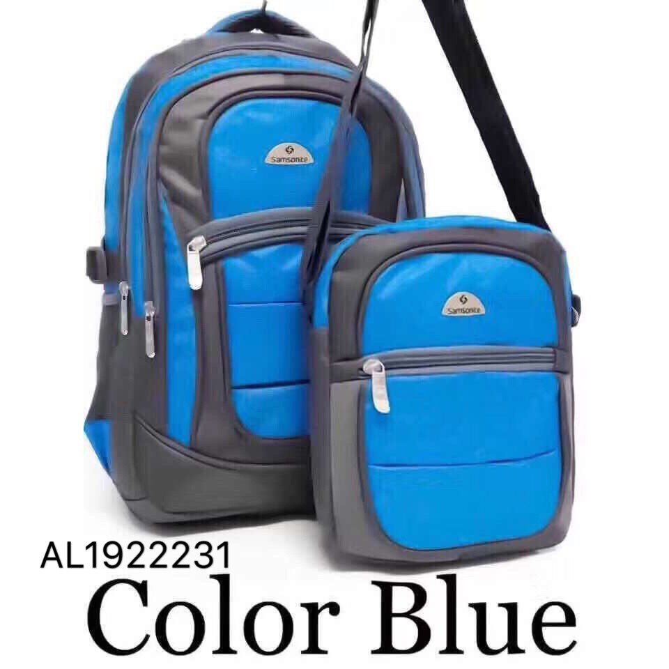 96f4ebd20a COD Samsonite backpack 2in1 unisex bagpack travel canvas bag