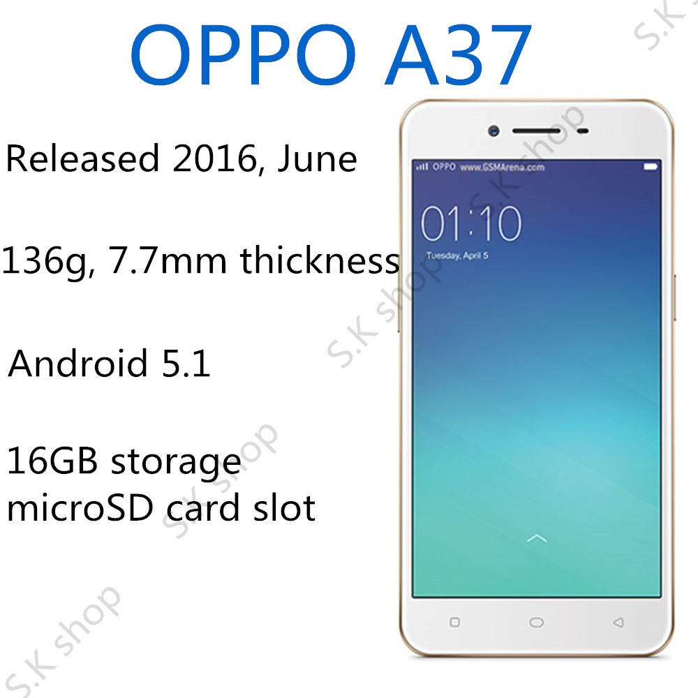 OPPO A37 Mobile Phone(Give a 16GB memory card)