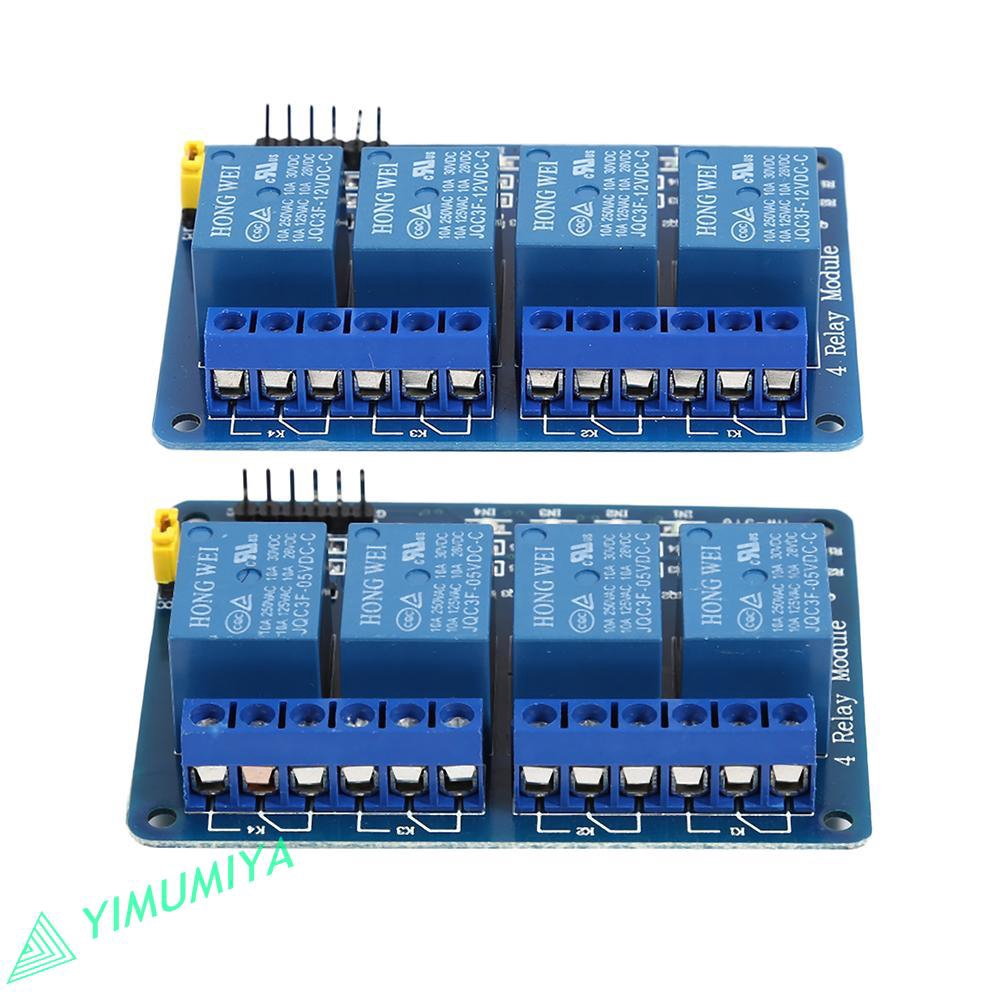 5V 12V 4 Channel with Optocoupler Output 4 Way Relay Module  Channel Relay Module Wiring on