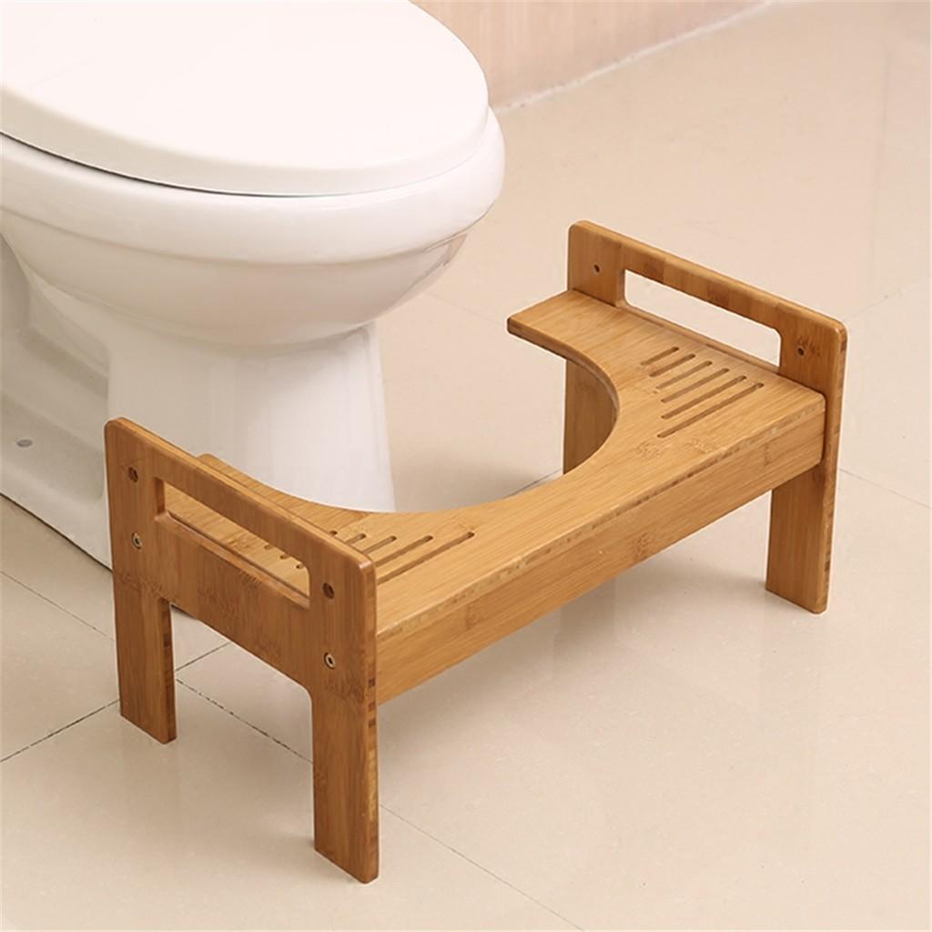 Digoo Bamboo Bathroom Toilet Foot Stool