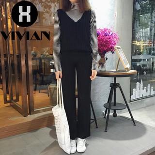 540bd006d6  VIVIAN Ready stock Korean Fashion Women Lace Autumn Fashion V-neck  Sleeveless Knit Sweater Jumpsuit