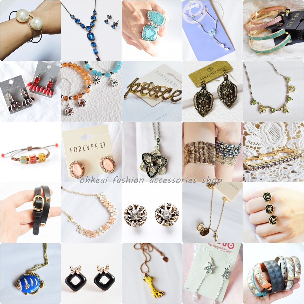 Set Package Wholesale Assorted Fashion Jewelries Accessories Earring Bracelet Necklace Ring Shopee Philippines