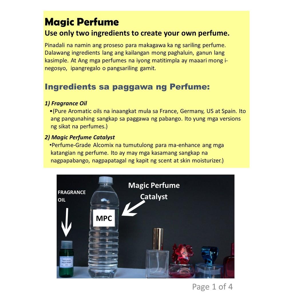 Perfume Catalyst / Perfumers alcohol (MPC) | Shopee Philippines