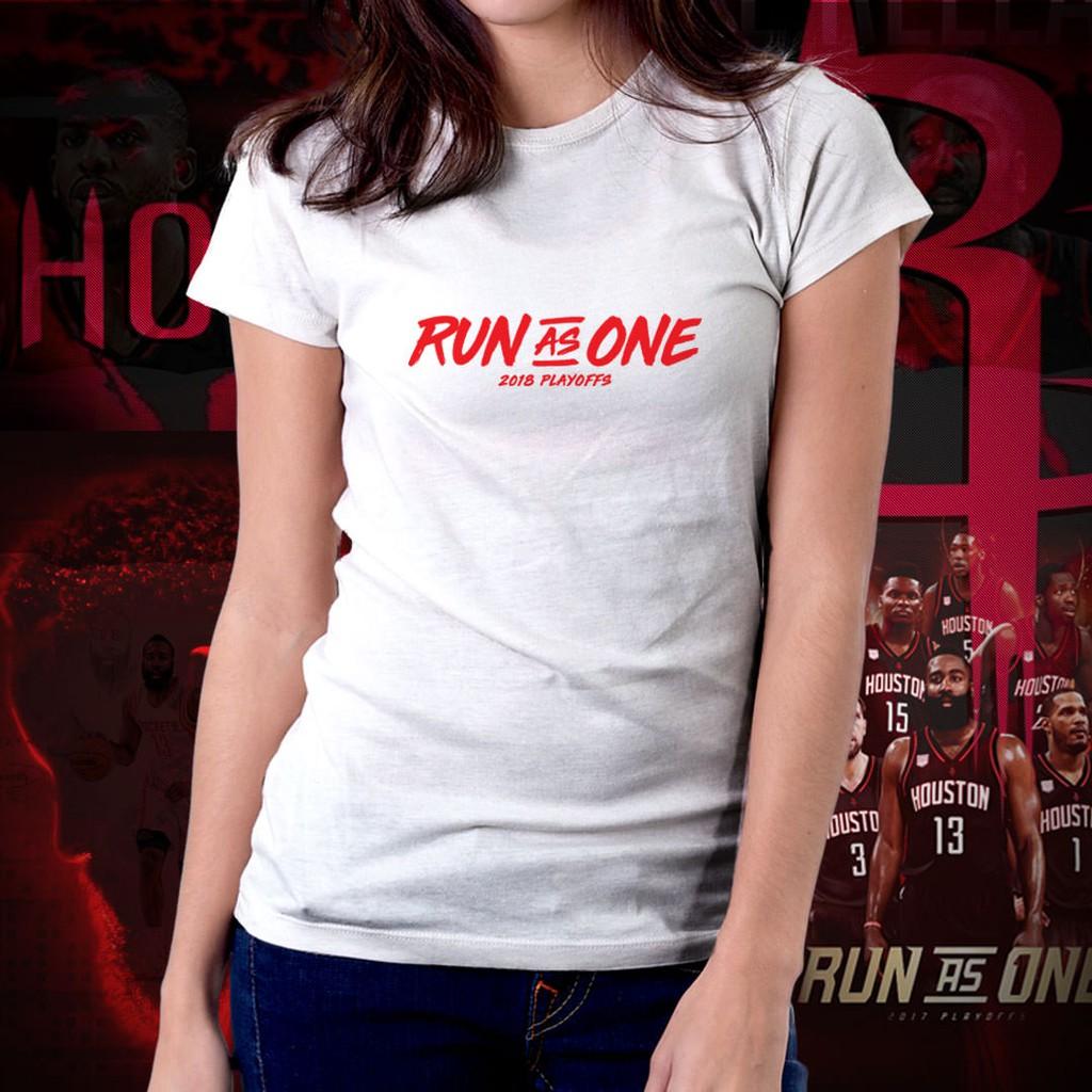 ac5260a90 Houston Rockets NBA Basketball Run As One Shirt for Women 04 | Shopee  Philippines