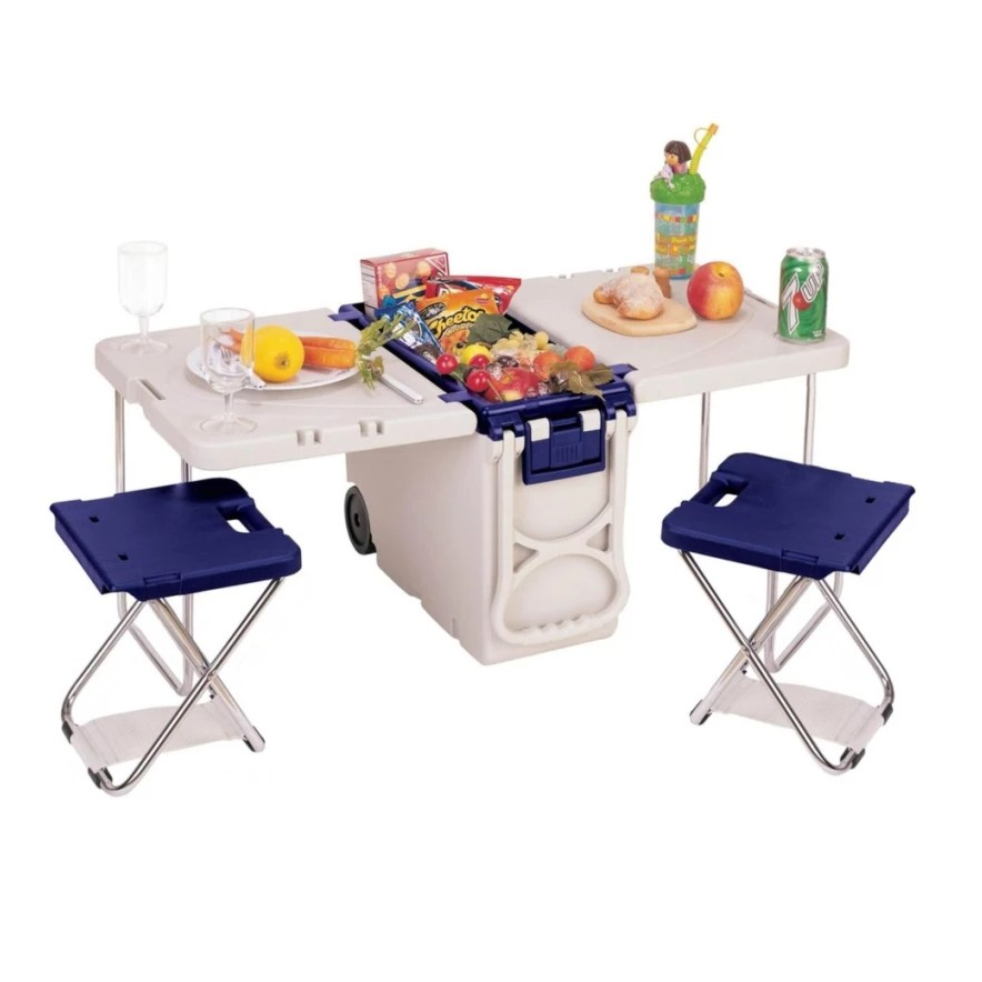 Cooler With Fold Out Table And Chairs Shopee Philippines