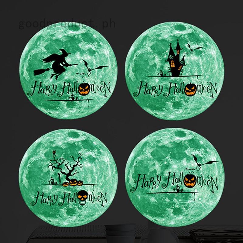 Glow In The Dark Luminous Halloween Bat Witch Wall Sticker Wallpaper Room Decor