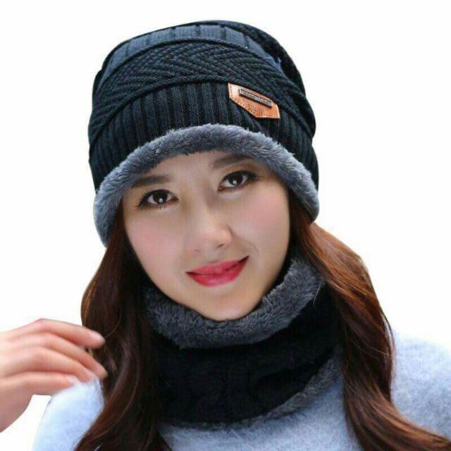 Men's Scarf Sets Bright 2018 Winter Hat Scarf Set Unisex Mix Color Knit Beanies Velvet Hat Men Cap Women Warm Thicken Hedging Caps Ski Soft Ring Scarf Men's Accessories