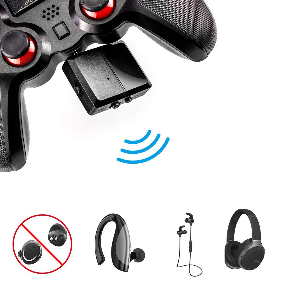 Bluetooth Headset Earphone Receiver Wireless Audio Adapter For PS4 For  Switch