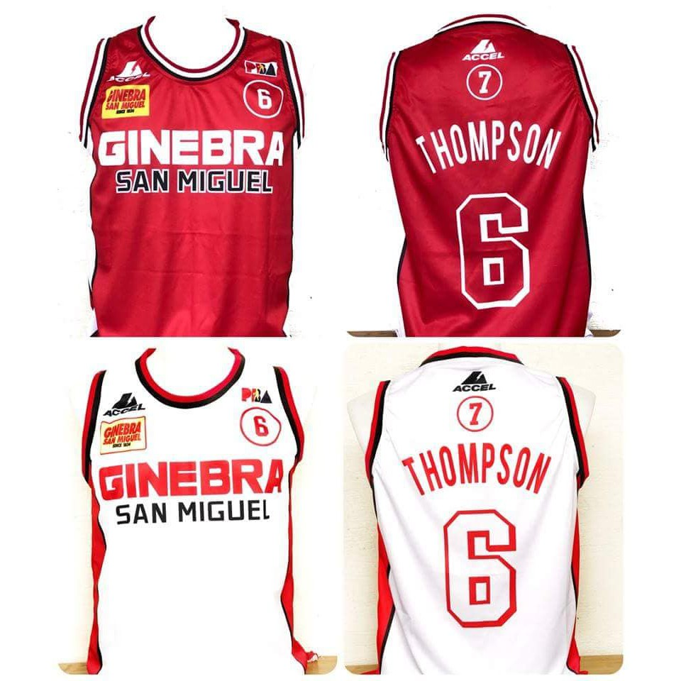 4c5b16a38 PBA Ginebra THOMPSON 6 2018 3D sublimation jerseys