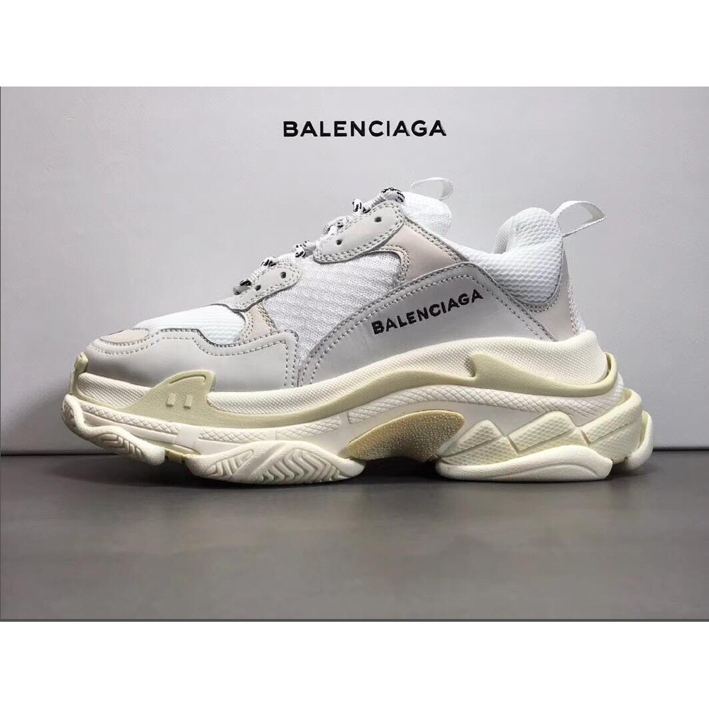 Authentic new Balenciaga Triple S Trainers UK10 Black
