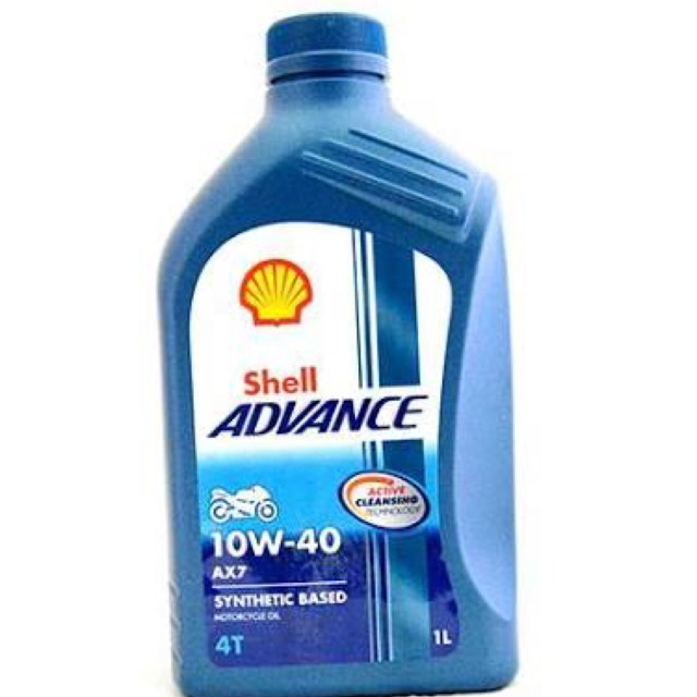 100%Authentic Shell Advance AX7 1L