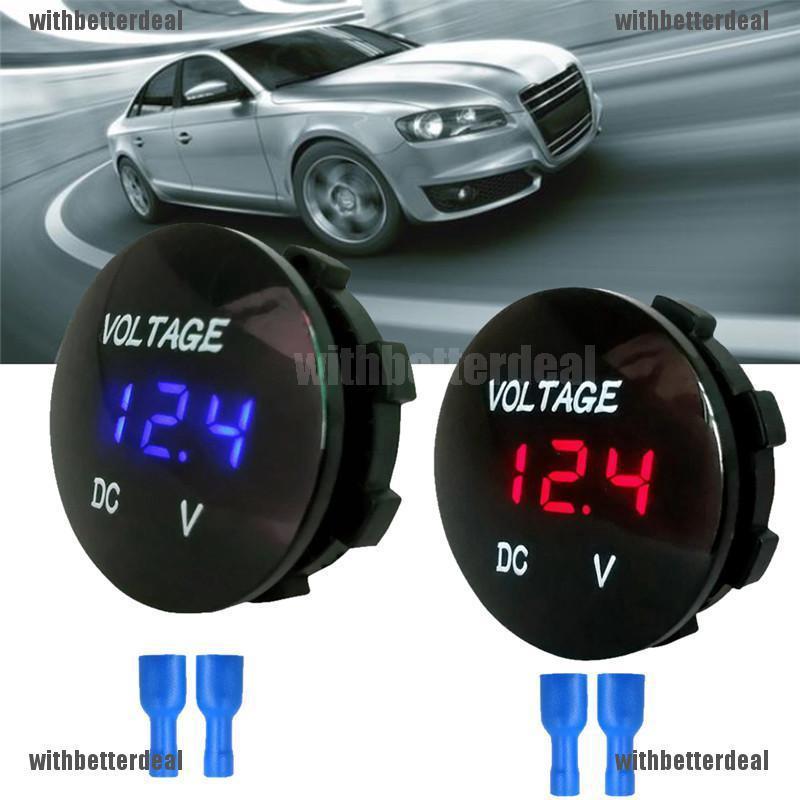 Car Voltmeter Voltage Auto LED Digital Volt Meter Display Motorbike Boat Travel