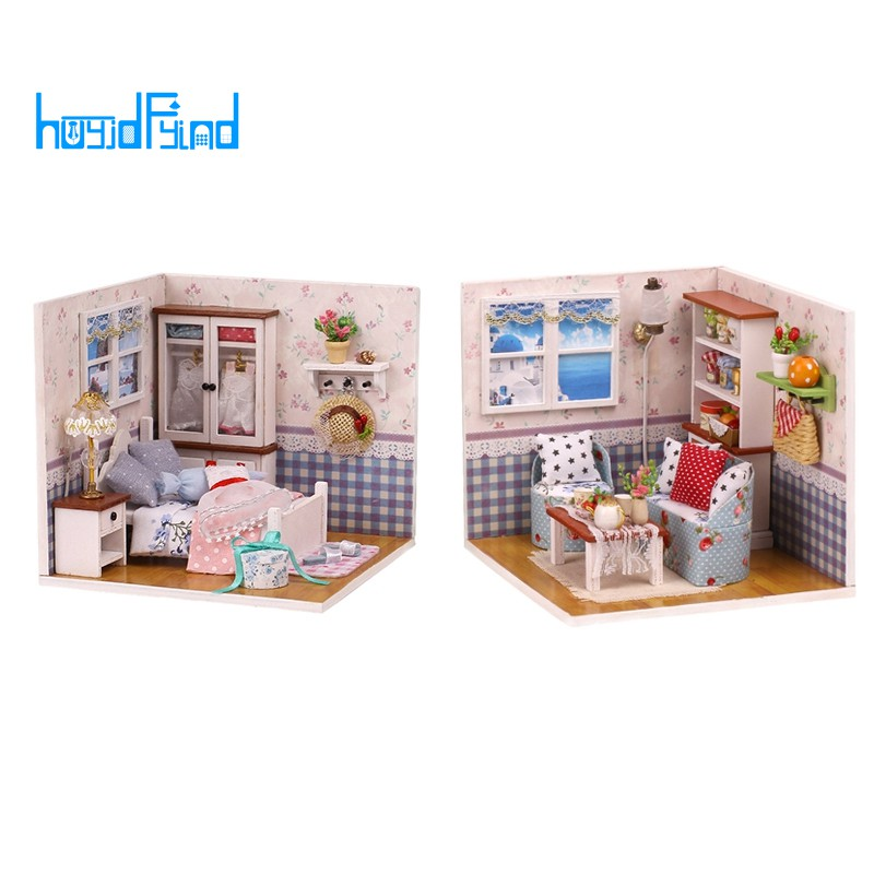 living room  w//Light /& Cover Dollhouse miniature kit -BUTTERLY/'S LOVE, M002