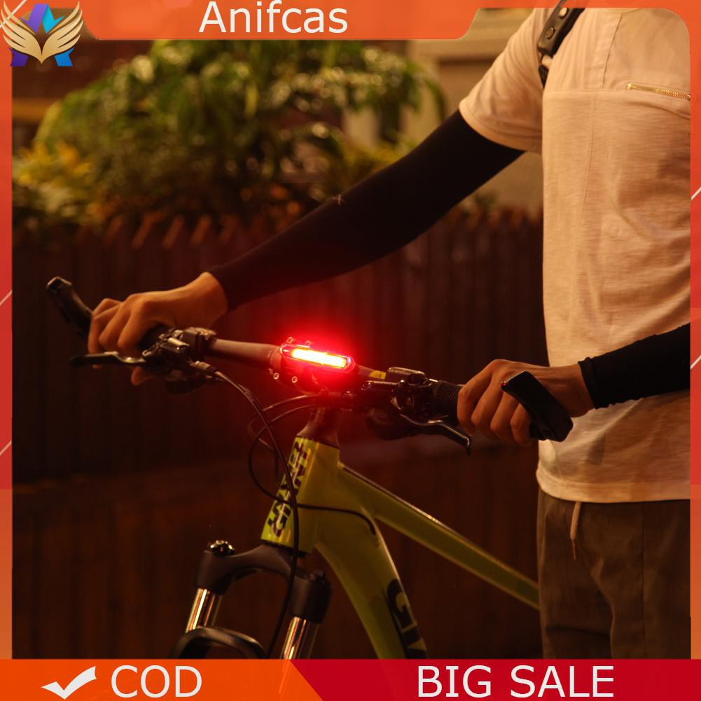 BW#A 5 modes USB Rechargeable COB LED Bicycle Bike Cycling Rear Tail Light Lamp