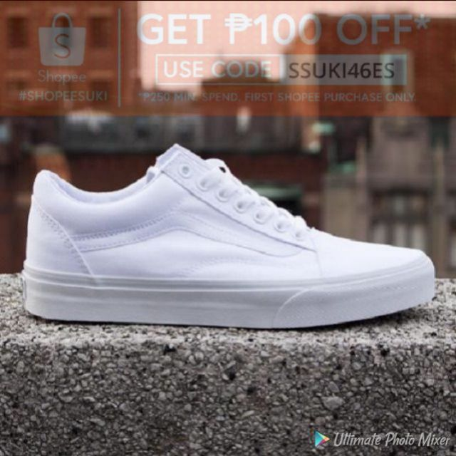 vans old skool full white