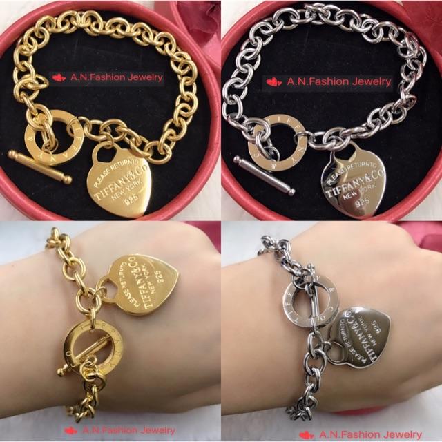 ✨New! Tiffany design lady's bracelet with heart charm