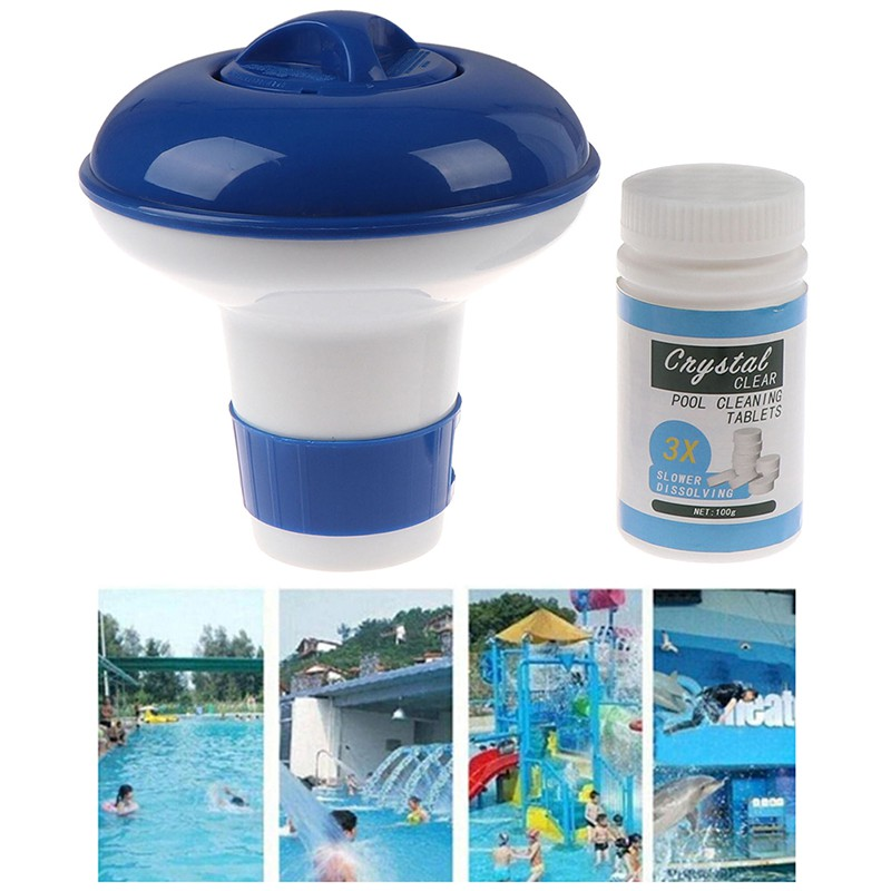 sunshine55 Pool Cleaning Tablets Disonfectant Swimming Pool Clarifier  Floating Dispenser