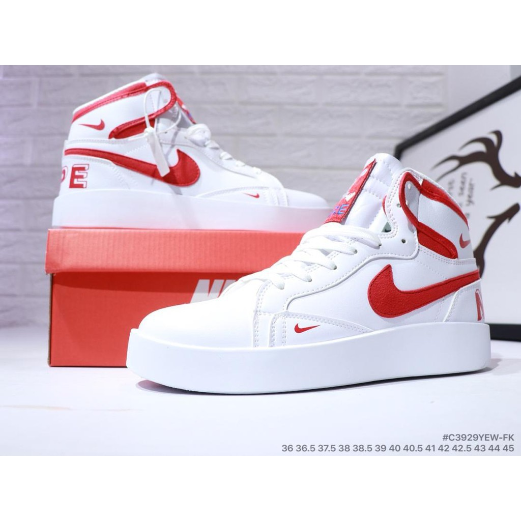 new product df33c bc5ef LKS NIKE Blazer MID Redel classic White and red High top versa