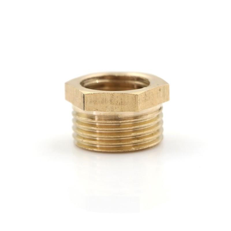 """Brass Fitting Reducing Bushing Pipe Reducer Adapter Metal 3//8/""""MNPT x 1//4/""""NPT F"""