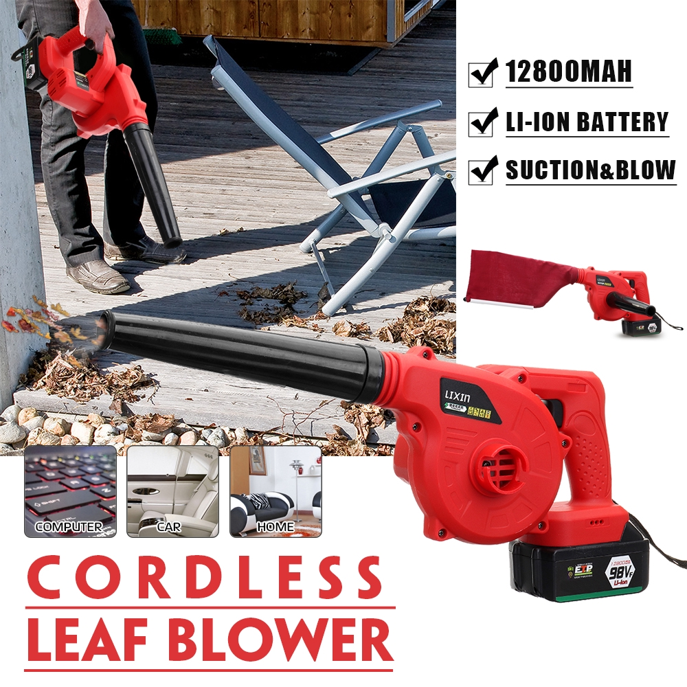 Handheld 220V Cordless Battery Powered Leaf Blower Dust Sweeper Vacuum Cleaner