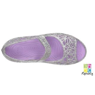 wholesale dealer 5bcd5 be924 Crocs Kids Isabella Glitter Flat C8 | Shopee Philippines