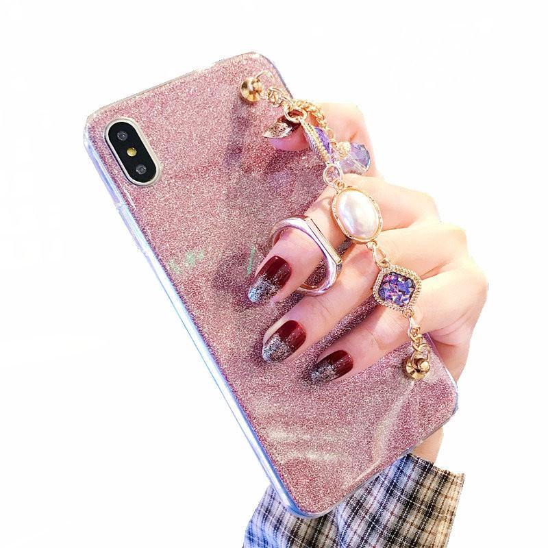Xiaomi Redmi 7 Note 6 Pro 5 4 4x S2 6A 5A Soft TPU Diamond Bracelet Case  Glitter Phone Back Cover