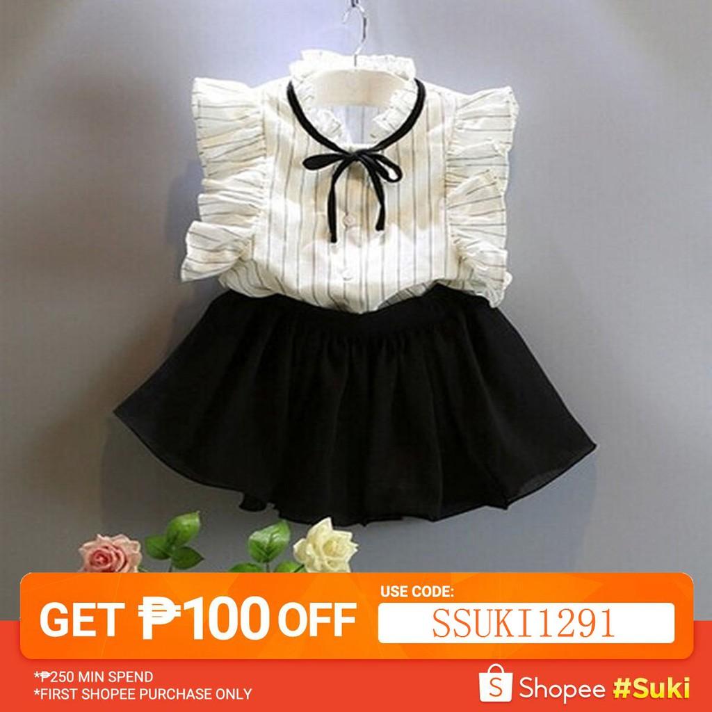 d45832a6704b4 2pcs Toddler Kids Baby Girls Outfits T Shirt Tops+Shorts